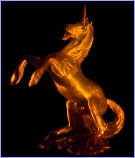 unicorn hologram image